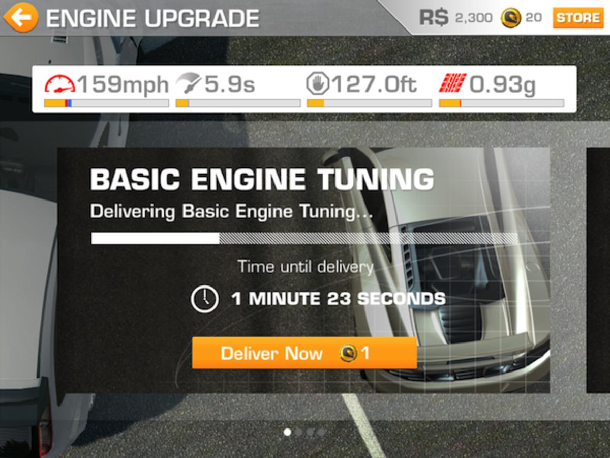 Engine Upgrade, level 1