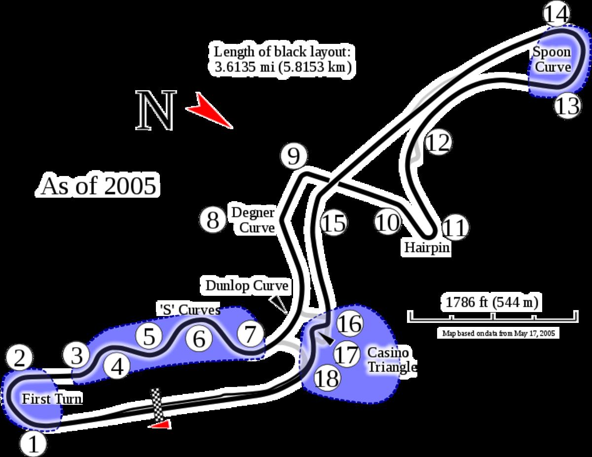 Suzuka Circuit, Grand Prix configuration