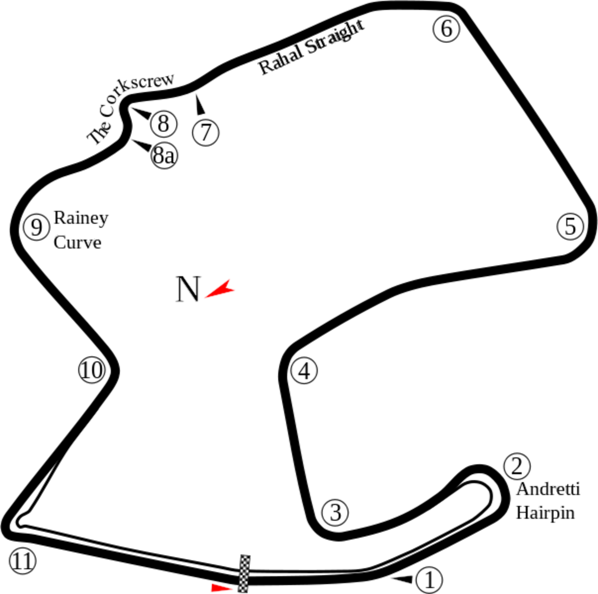Laguna Seca Course map