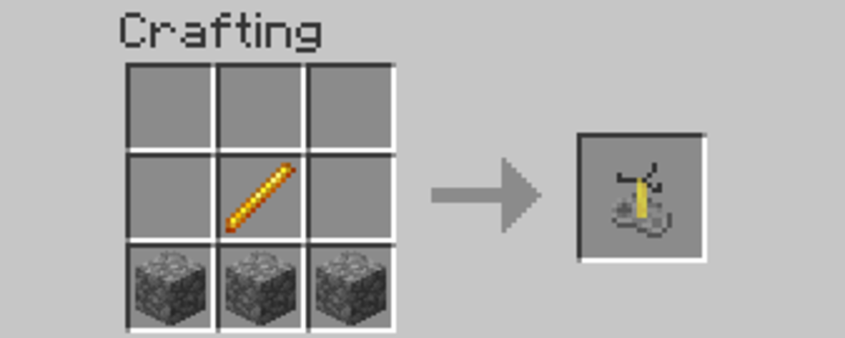 To craft a brewing stand, all you need are one blaze rod and three cobblestone.