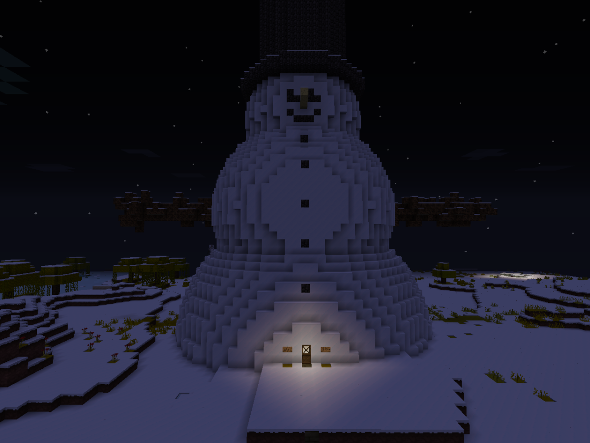 I really loved this snowman structure - a lot of time went into this Christmas statue!