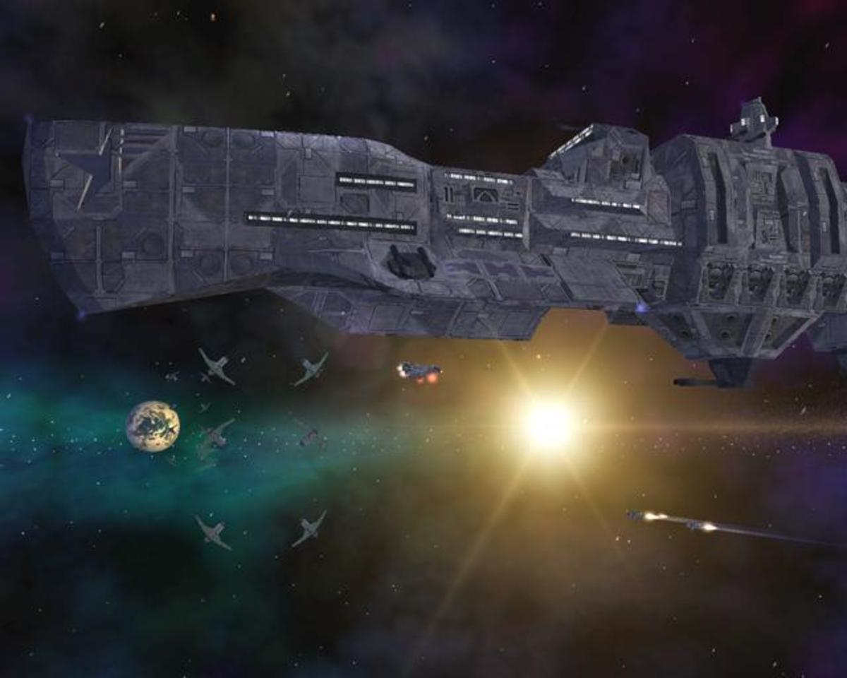 Freelancer - One of many capital ships