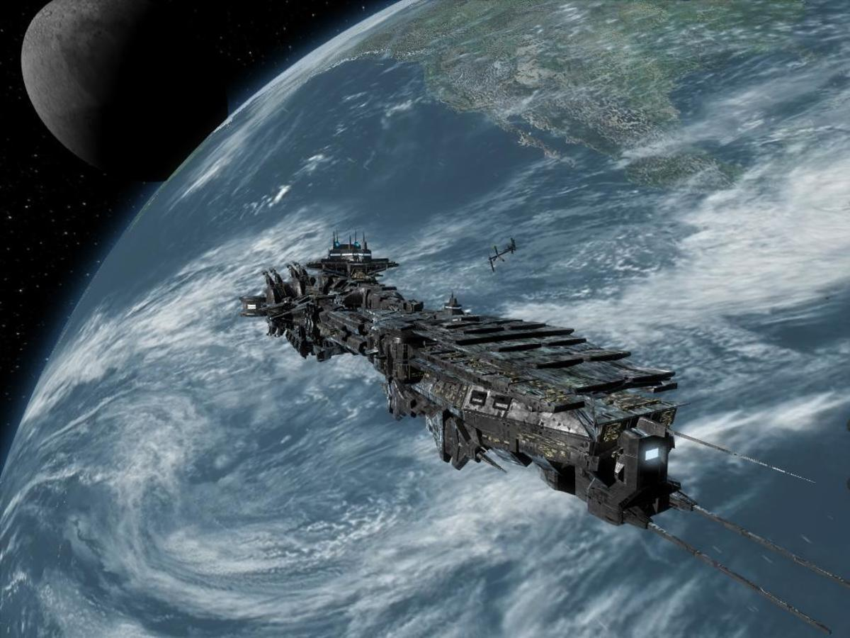 X3 Reunion:  A capital ship, and yes you can fly it too!