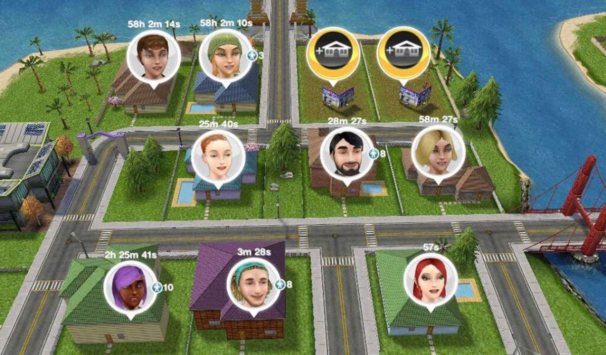Build homes to gain extra Simoleons.