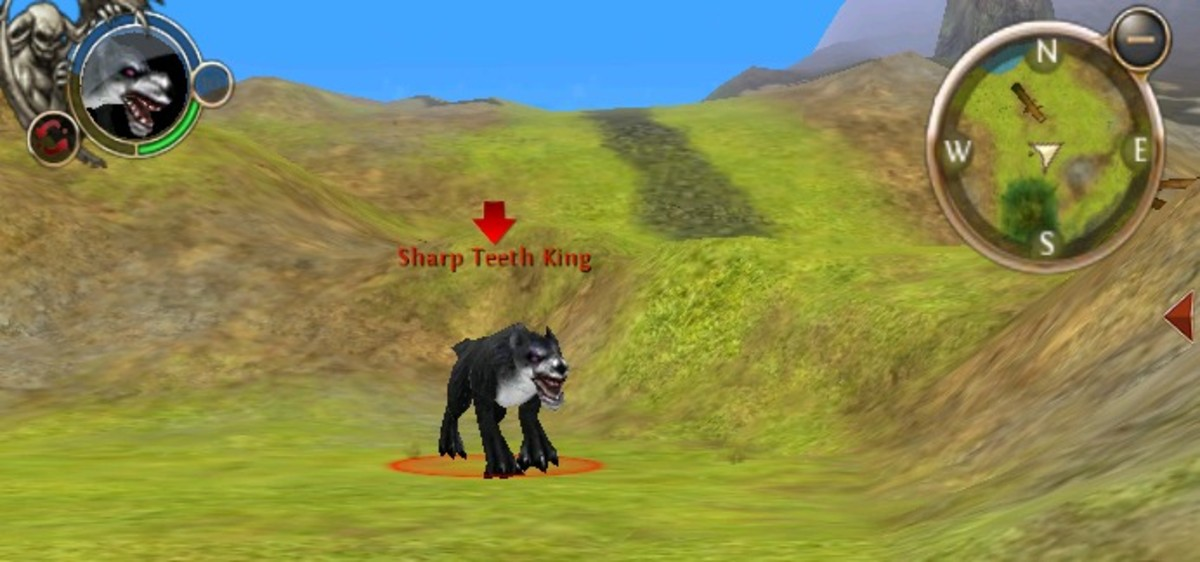 The Sharp Teeth King in the Arcadian Forest.