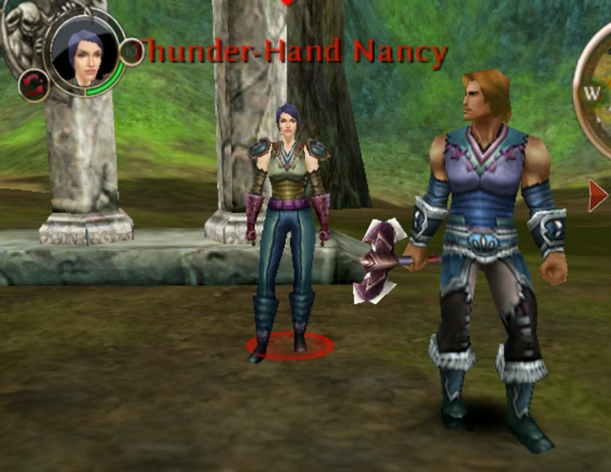 Thunder-Hand Nancy and Wolf-Heart Jack Arcadian Forest Rare Blood Achievement Picture.
