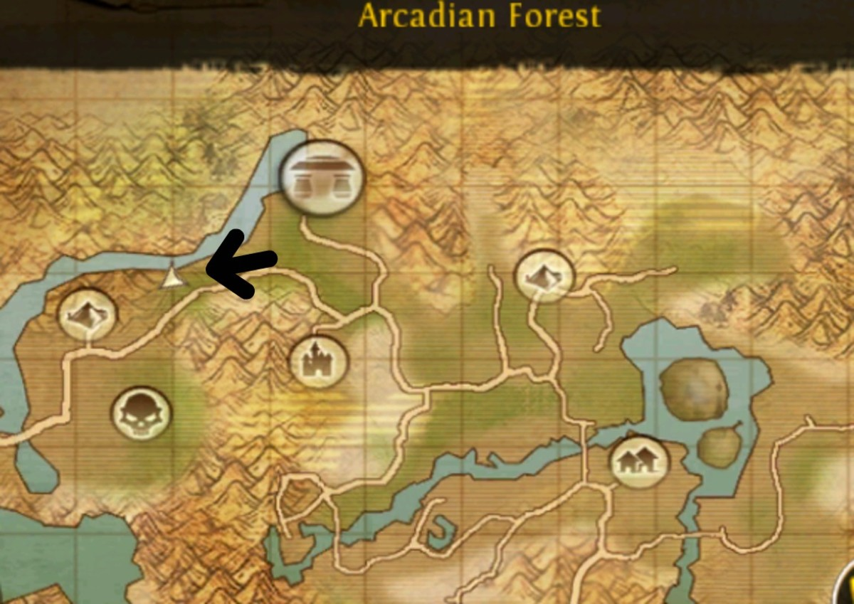 The Sharp Tooth King's location.