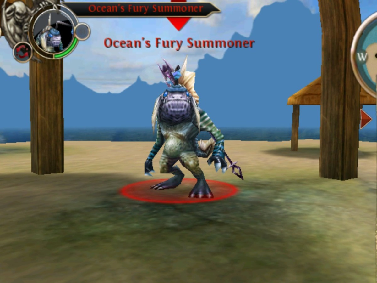 Screen Shot of Ocean's Furry Summoner in Whispering Islands, OAC.