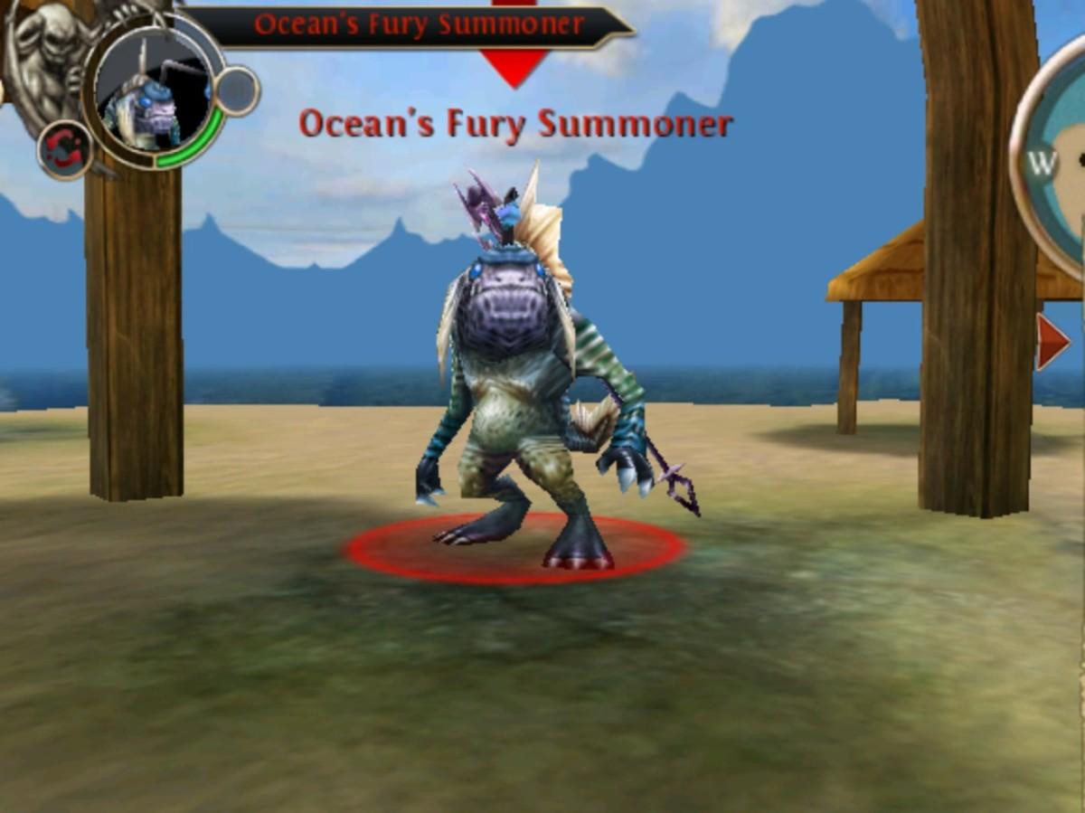 Screen Shot of Ocean's Furry Summoner in Whispering Islands, OAC.