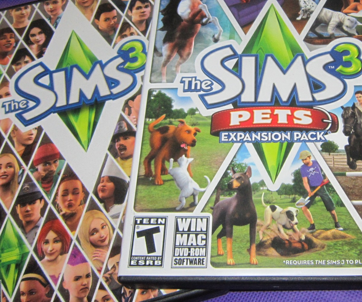 """The Sims 3"" and ""The Sims 3 Pets"" expansion pack."