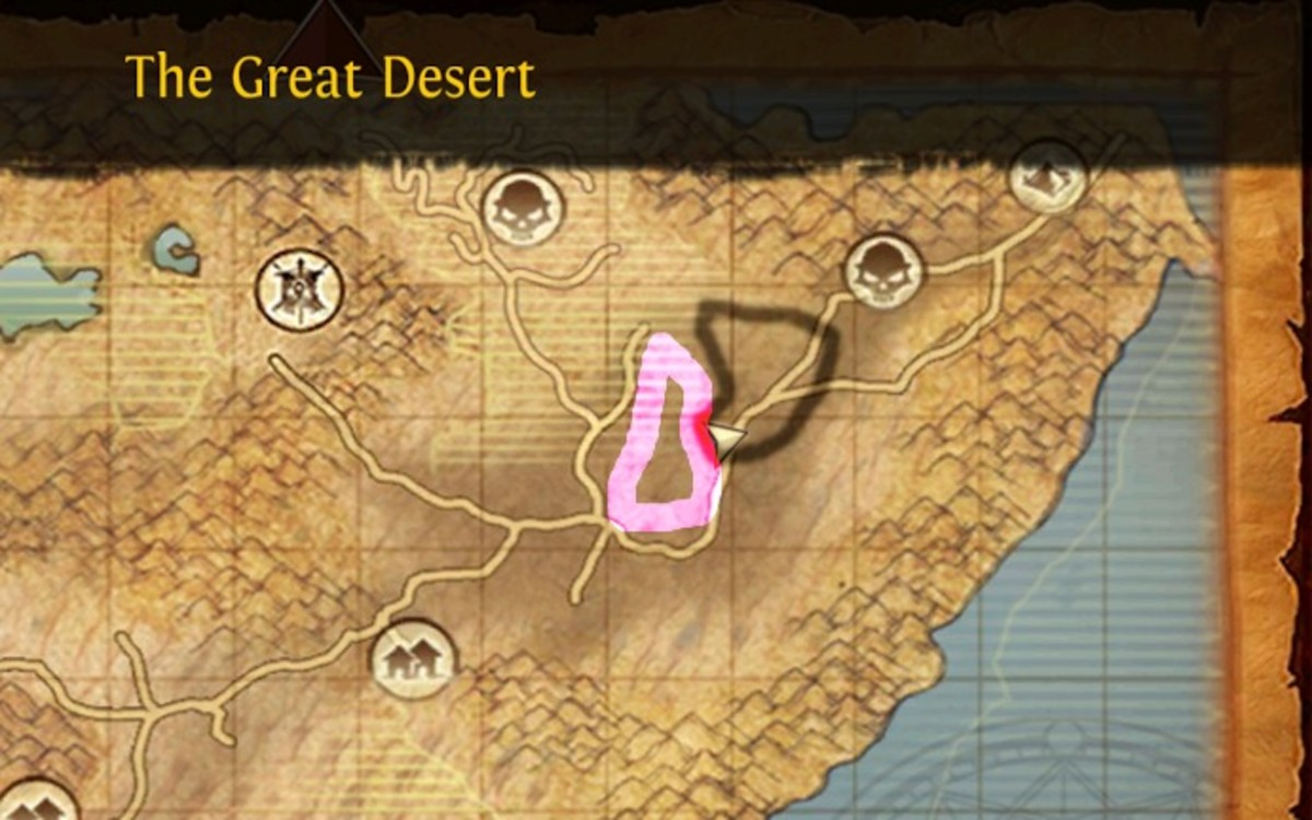 The great desert mount locations.
