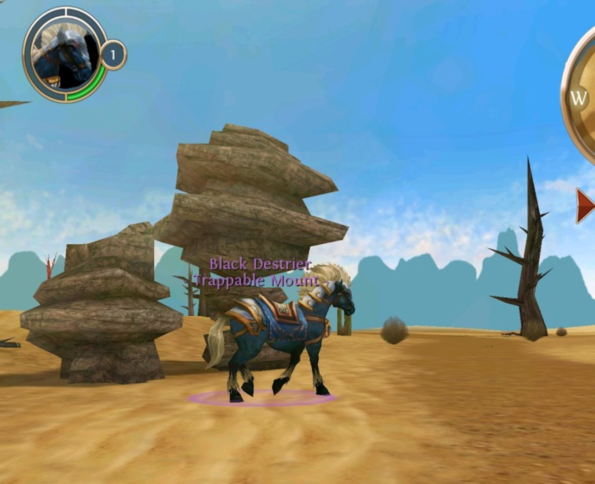 Level 2 mount location in the great desert.