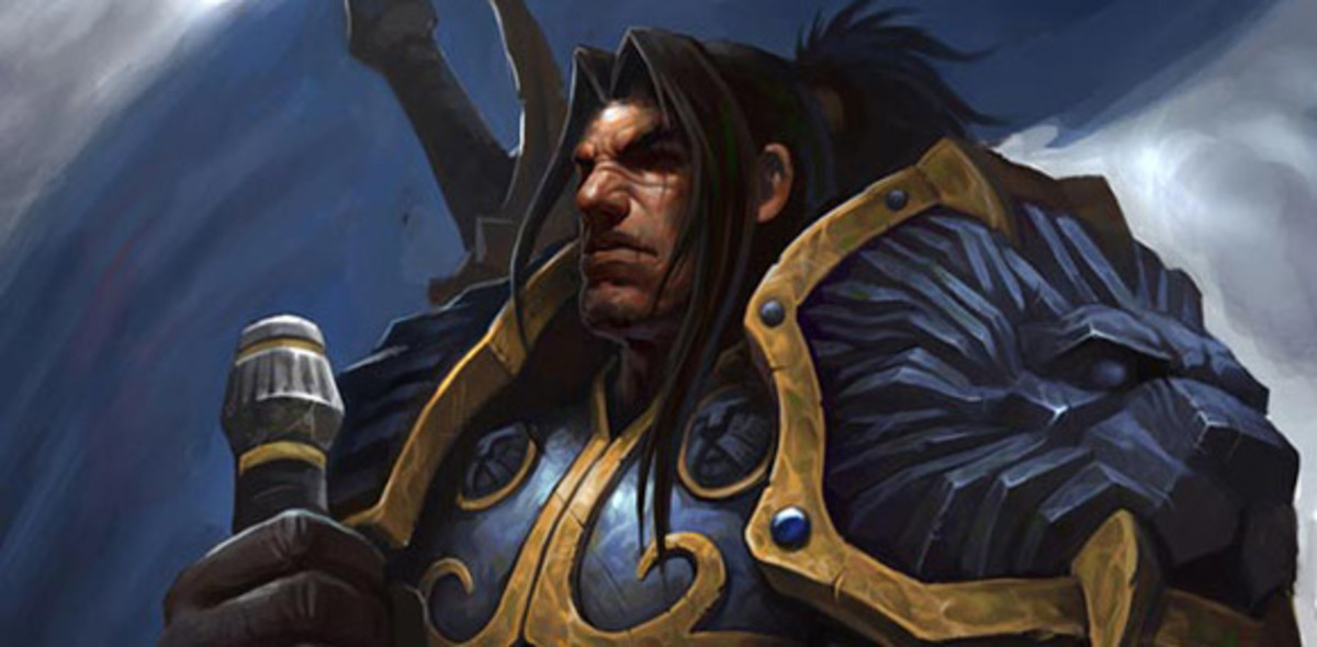 "King Varian Wrynn from ""WoW."""