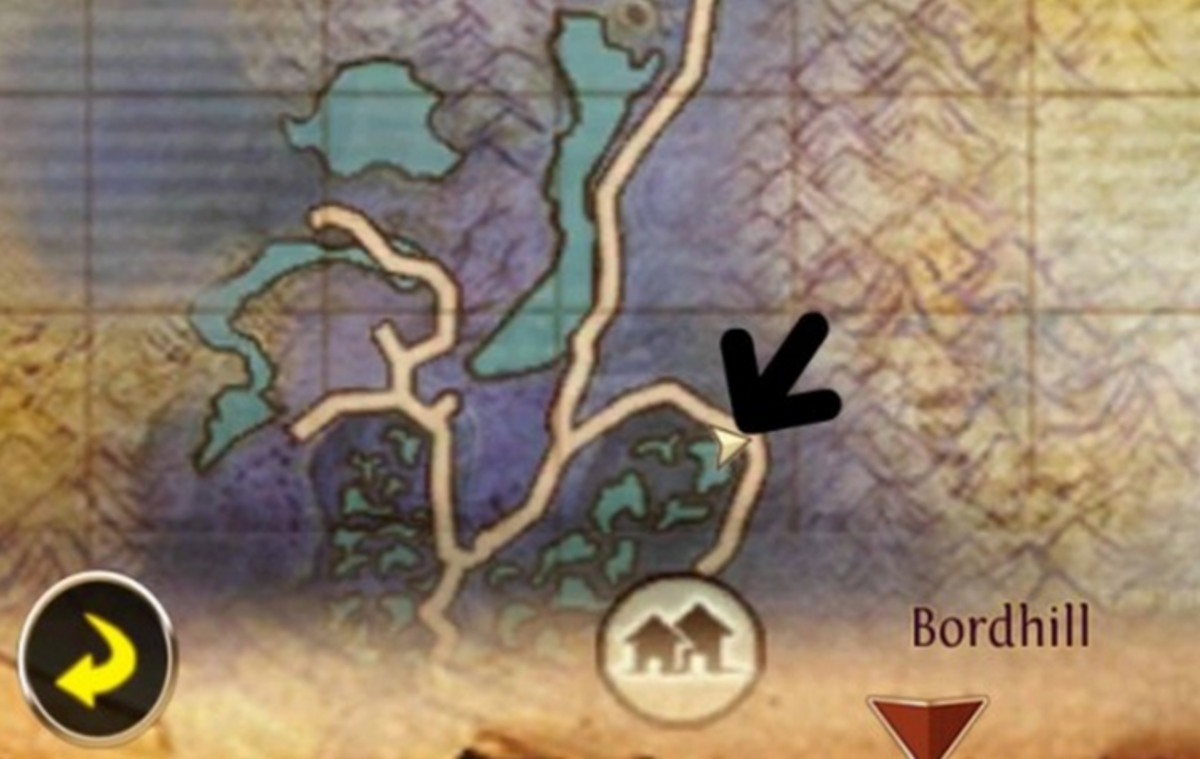 Bordhill Mount Spawn Location in Swamp of Wyrms