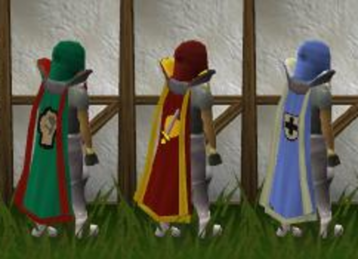 Trimmed Strength, Attack and Defence Skillcapes