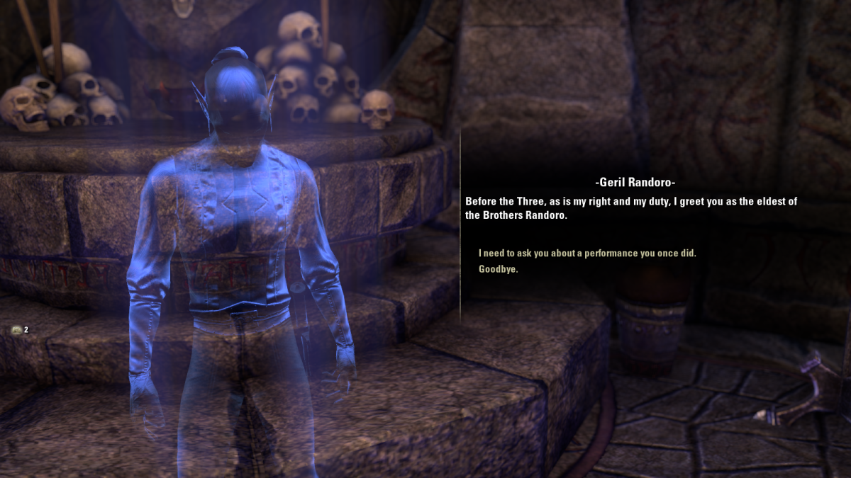 Learning of a hysterical (and deadly) 'joke' during the This One's a Classic quest in The Elder Scrolls Online.