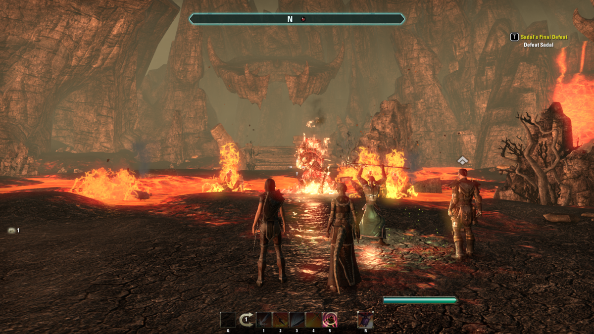 Battling Sadal, the second demonic brother that has long been sealed in the Tormented Spire of The Elder Scrolls Online.