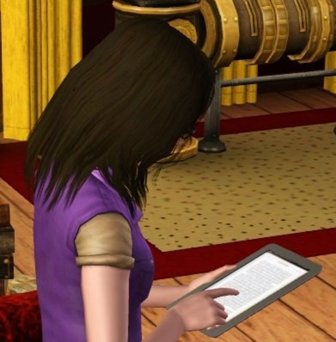 The Sims' MultiTab 6000, in-use.