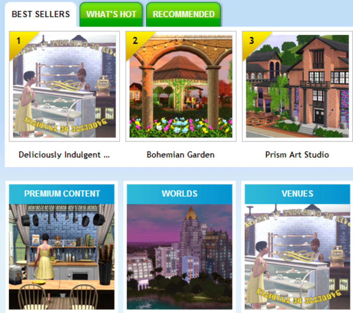 EA's The Sims Store