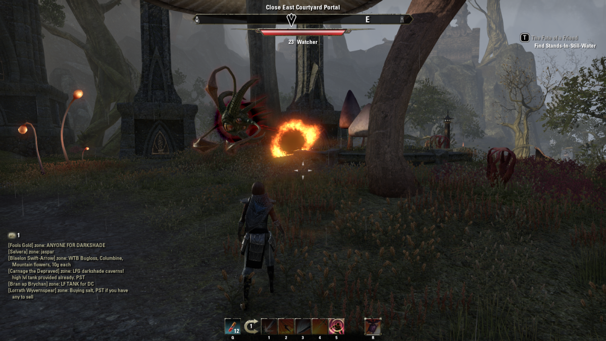 Closing a portal leading to a demonic realm during The Wounds in the World quest in The Elder Scrolls Online.