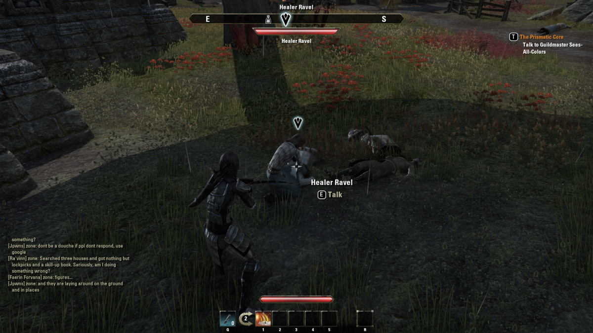 Taking down Plague Husks during The Medallions of Saint Veloth quest in The Elder Scrolls Online.