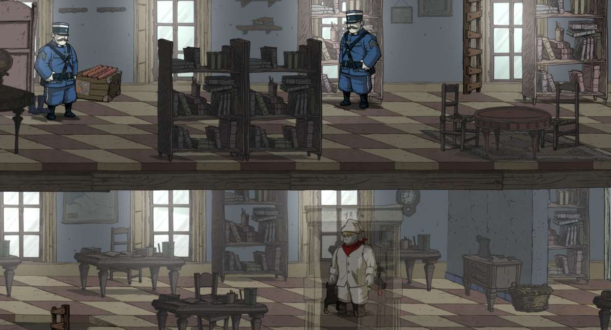 Karl sneaks through Vaubecort in disguise in Valiant Hearts.