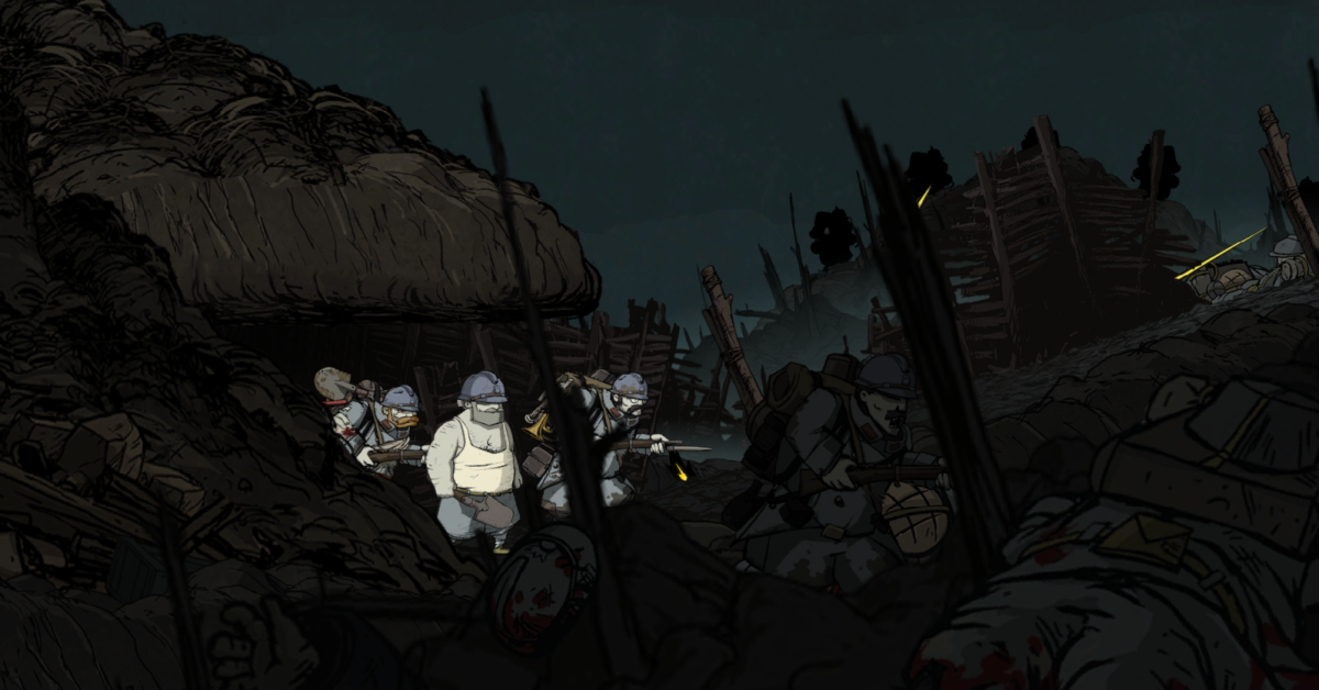 Emile navigates the chaos of Vimy Ridge in Valiant Hearts.
