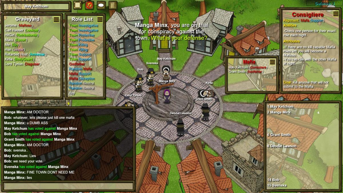 In this game, I convinced a Bodyguard to help the Mafia win...