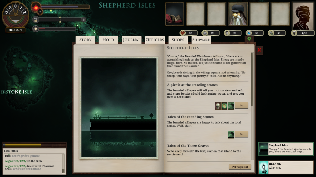 "The player visits The Shepherd Isles in ""Sunless Sea."""