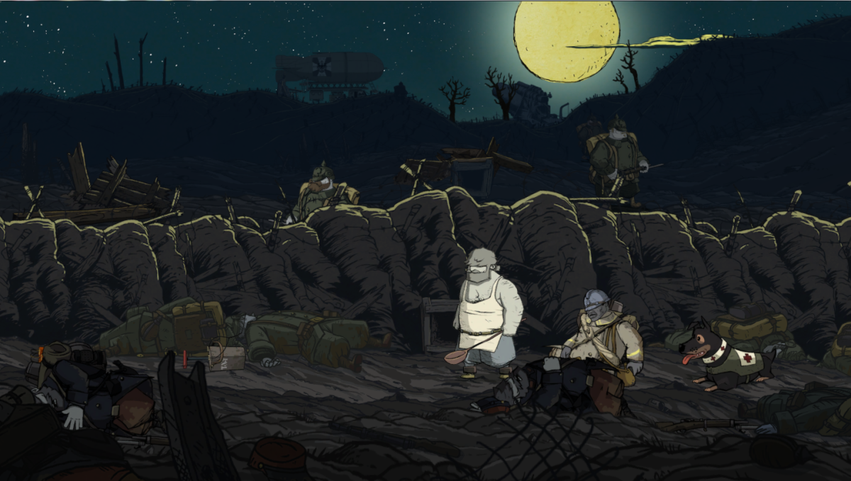 """Emile sneaks through the Labyrinth of trenches in """"Valiant Hearts."""""""