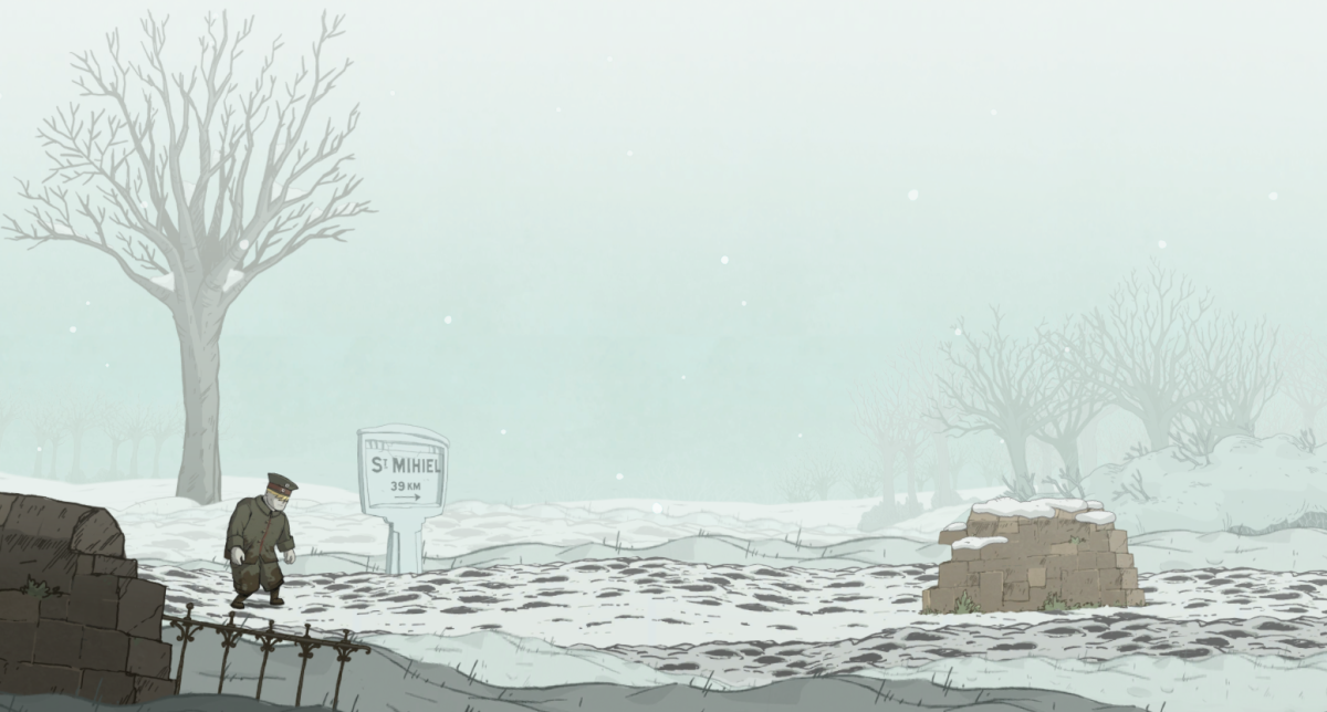 Karl struggles through the snow in Valiant Hearts.