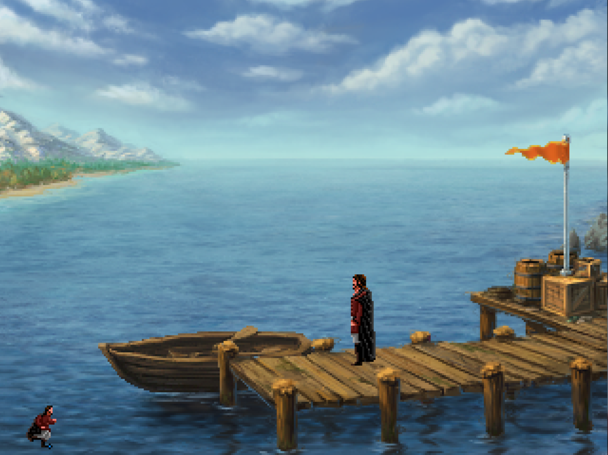 The docks of Tyr in Quest for Infamy.
