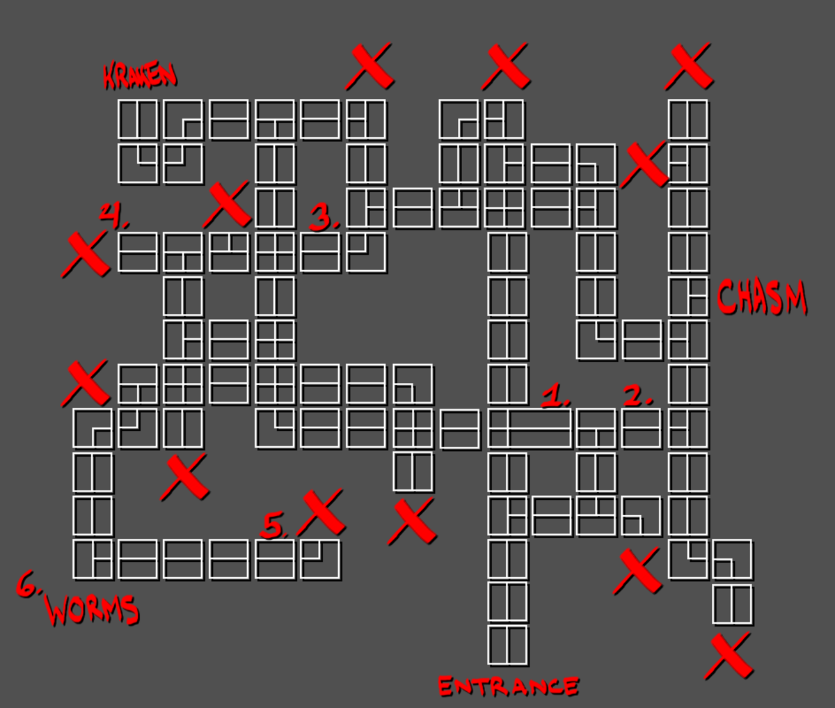 A map of the Dwarven Mines in Quest for Infamy. Please reference this article if you decide to repost this map.