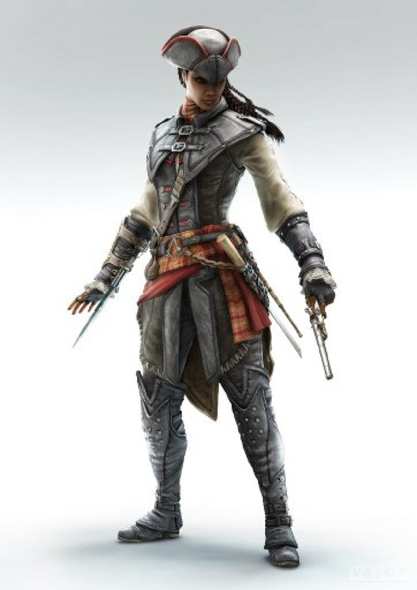 "Aveline de Grandpré from ""Assassin's Creed: Liberation."" Aveline quickly became a fan favorite among gamers."