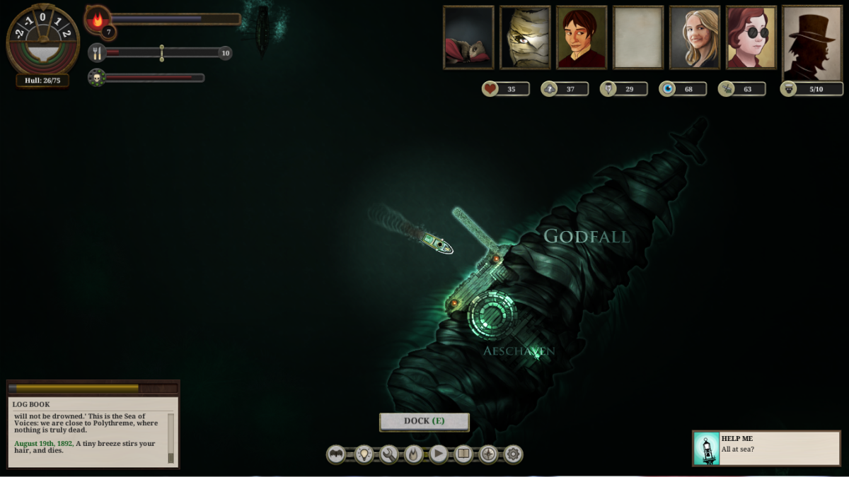 Godfall, one of the locations in Sunless Sea.