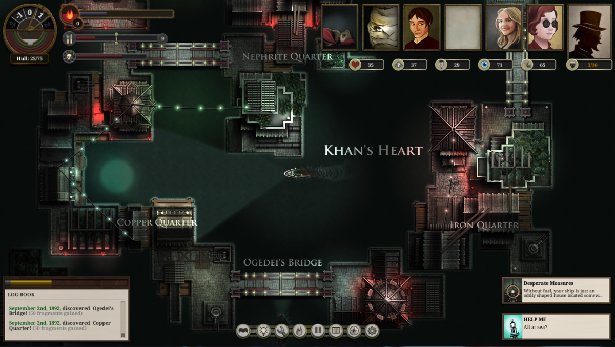 The player visits Khan's Heart in Sunless Sea.