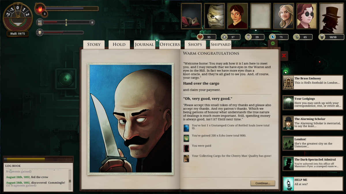 The Blind Bruiser in Sunless Sea. Honour your bargains with the man or you'll regret it.