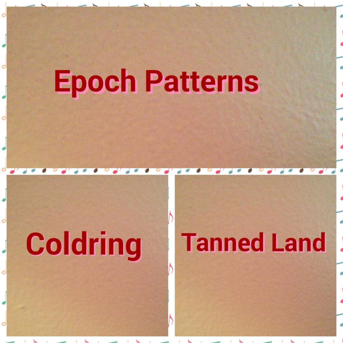 In Order and Chaos, the Epoch pattern can be found in Coloring and in the Tanned Land.