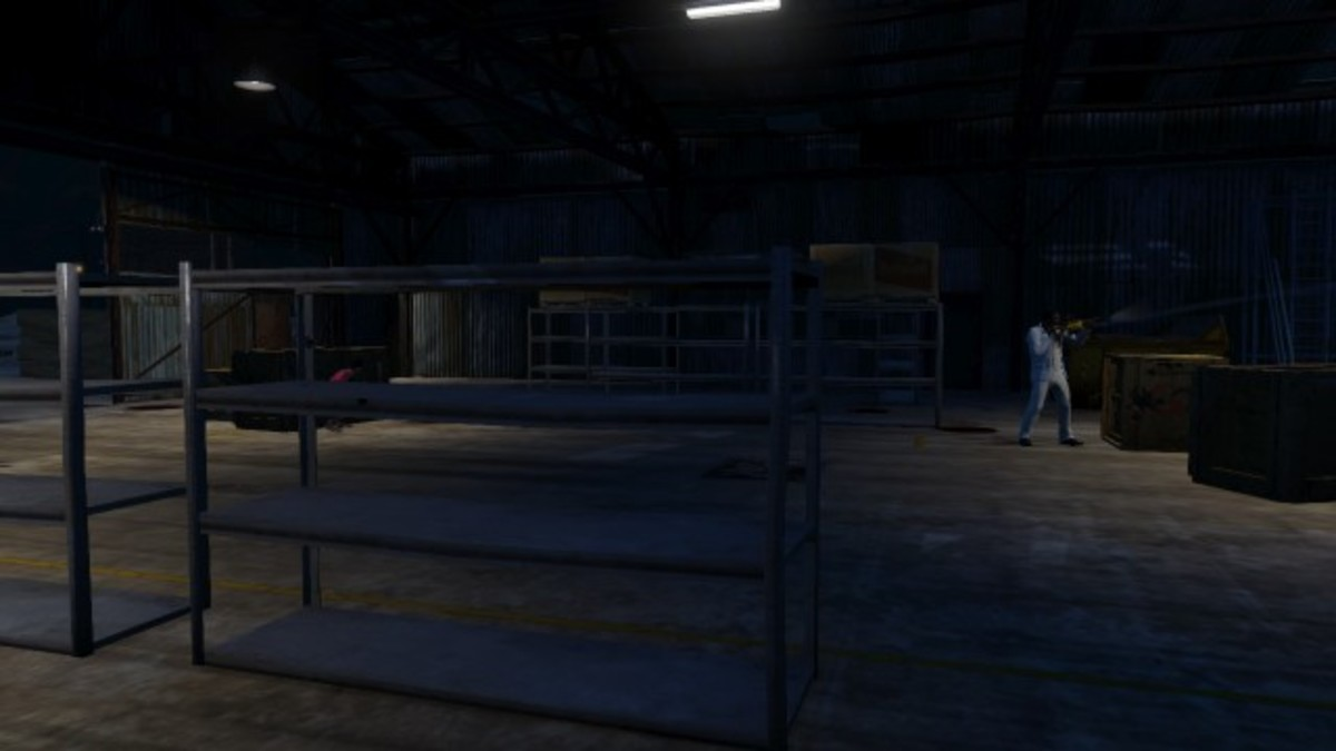 Two player spot inside warehouse. In case one of you dies...