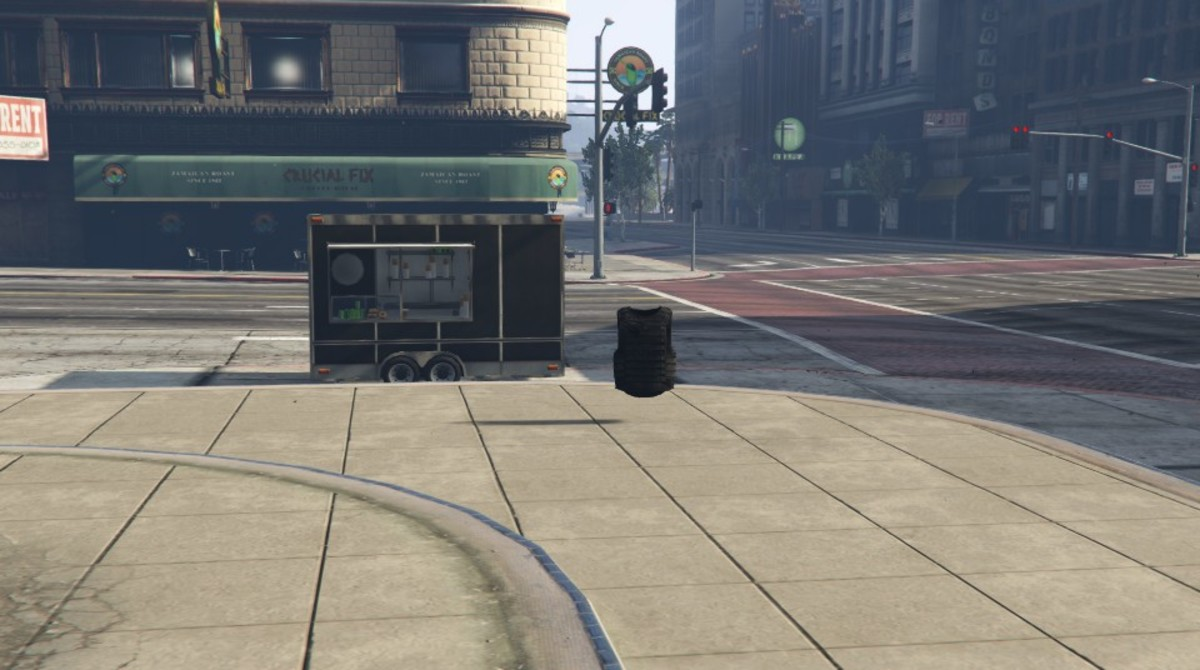 This is the closest Body Armor spawn point to the hot dog stand.