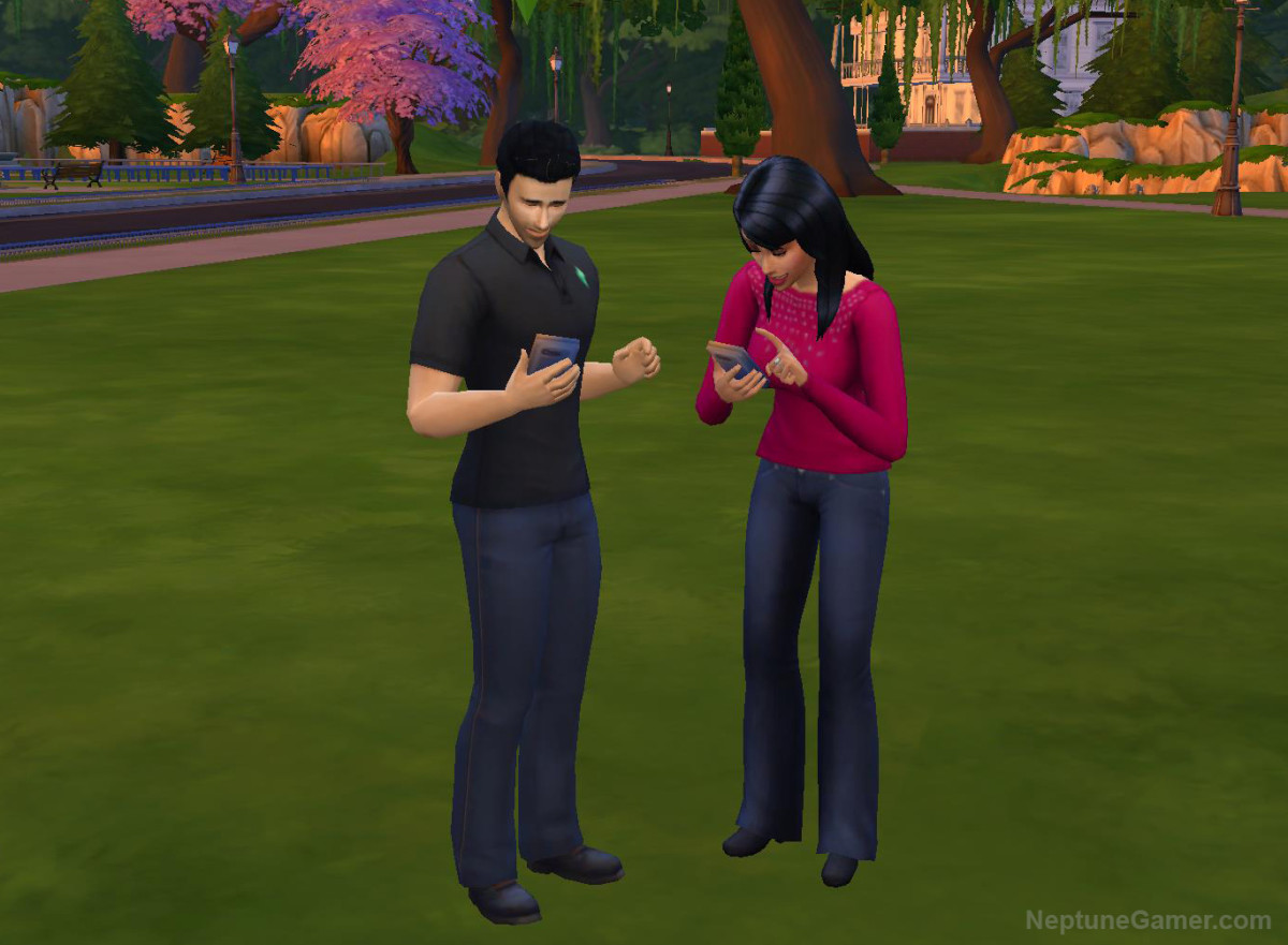 Sims 4 - Addicted to Phones
