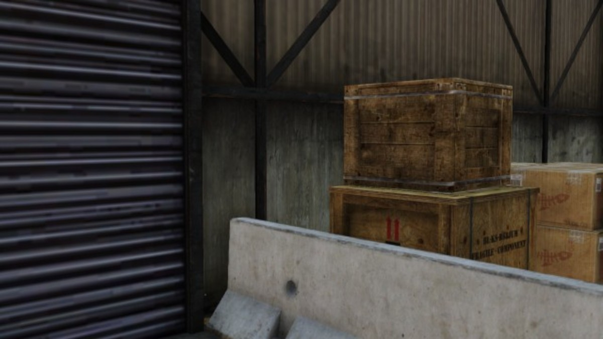 These crates are great cover provided you don't bump them over.