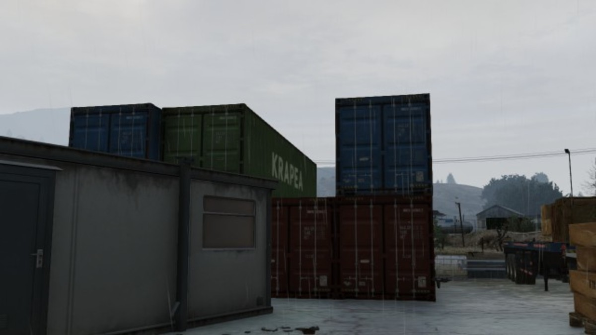 Container gap at South-West of plant. (Co-op position 1)
