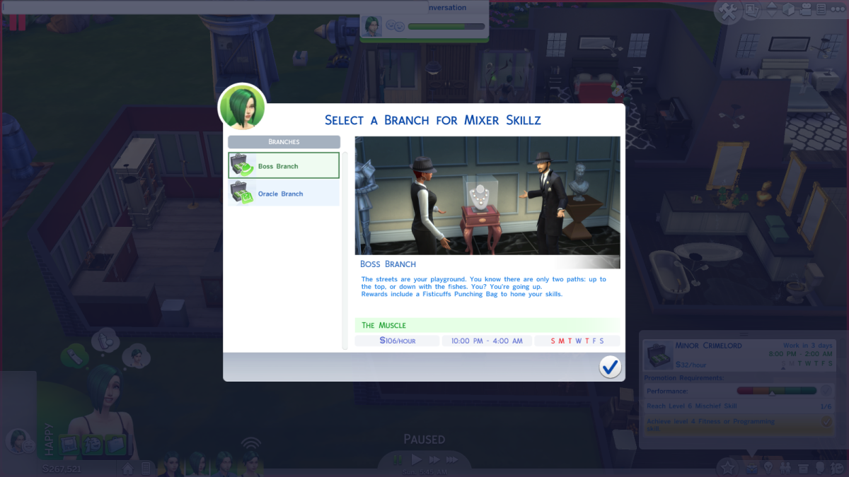 "The Boss career branch in ""The Sims 4."""