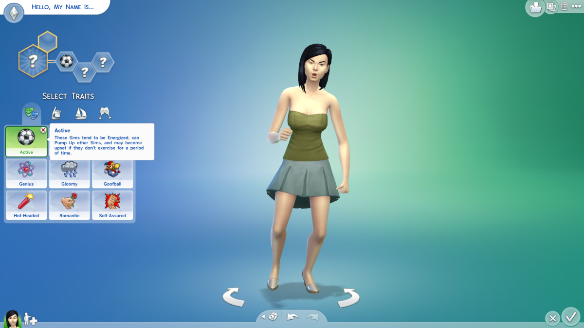 The Athletic Aspiration in The Sims 4.