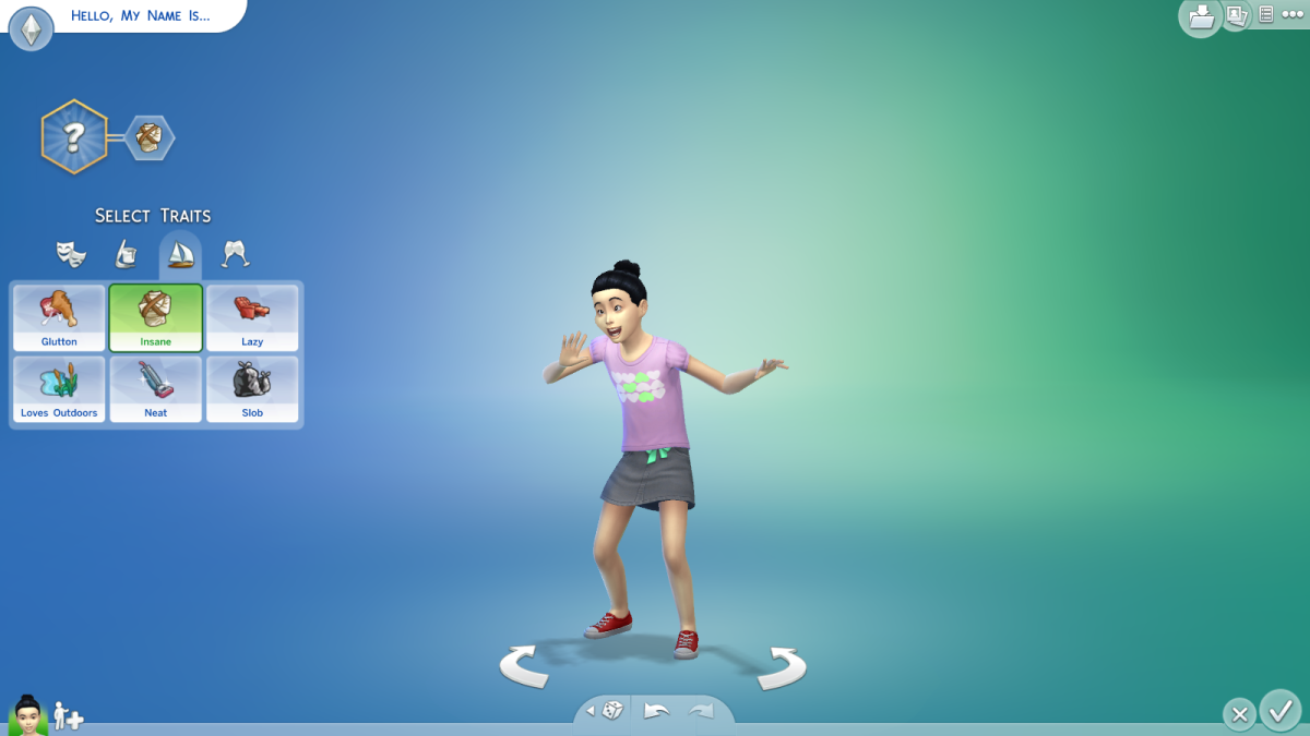 Childish Aspirations in The Sims 4.
