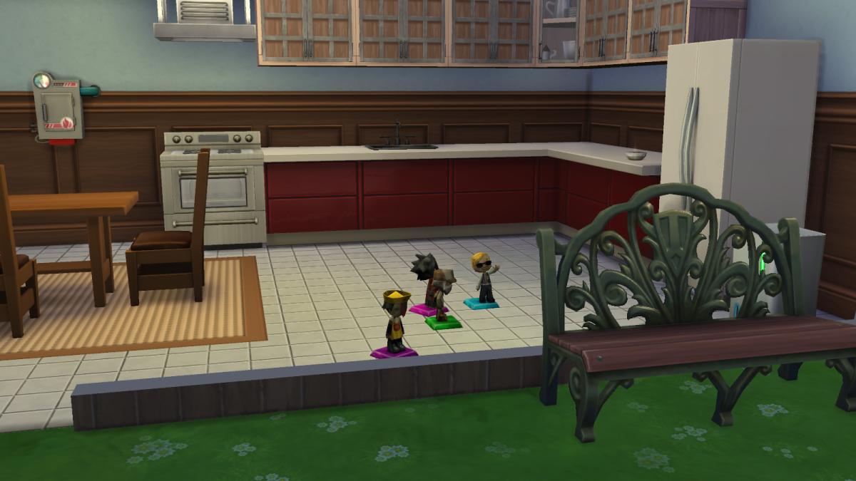 "MySims Trophies in ""The Sims 4."" These collectibles can be found by excavating rocks and finding Mysterious Time Capsules."