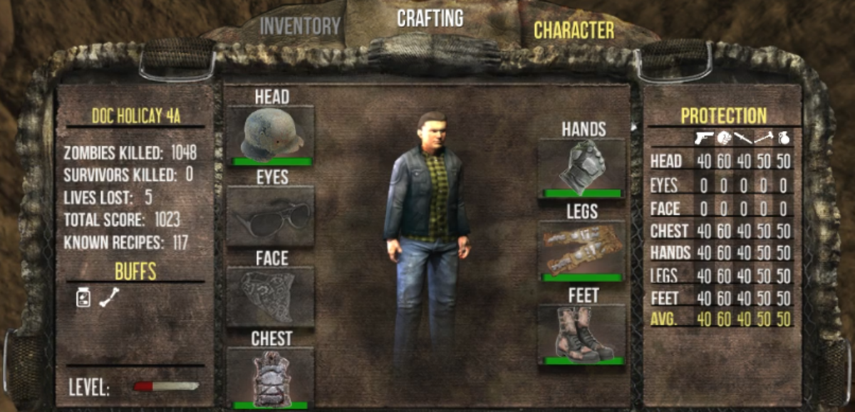 There character tab found in the in-game menu