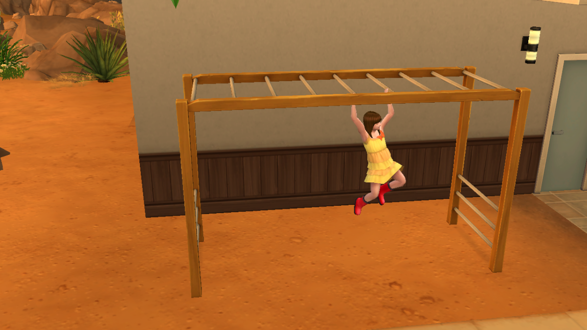 If you've got a small lot, Monkey Bars are the way to go for the Motor skill