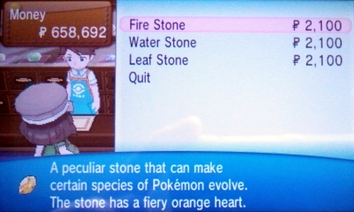 In Pokemon X, stones can be purchased in Lumiose City, with new selections daily.